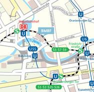 Ihr Weg zum Bundesministerium für Bildung und Forschung in Berlin; Kapelle-Ufer 1