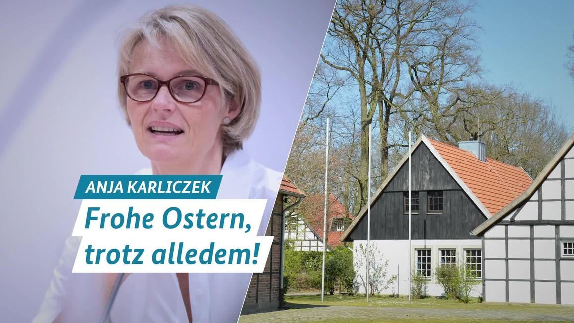 Poster zum Video Ostern 2020 - Botschaft der Bundesministerin für Bildung und Forschung, Anja Karliczek
