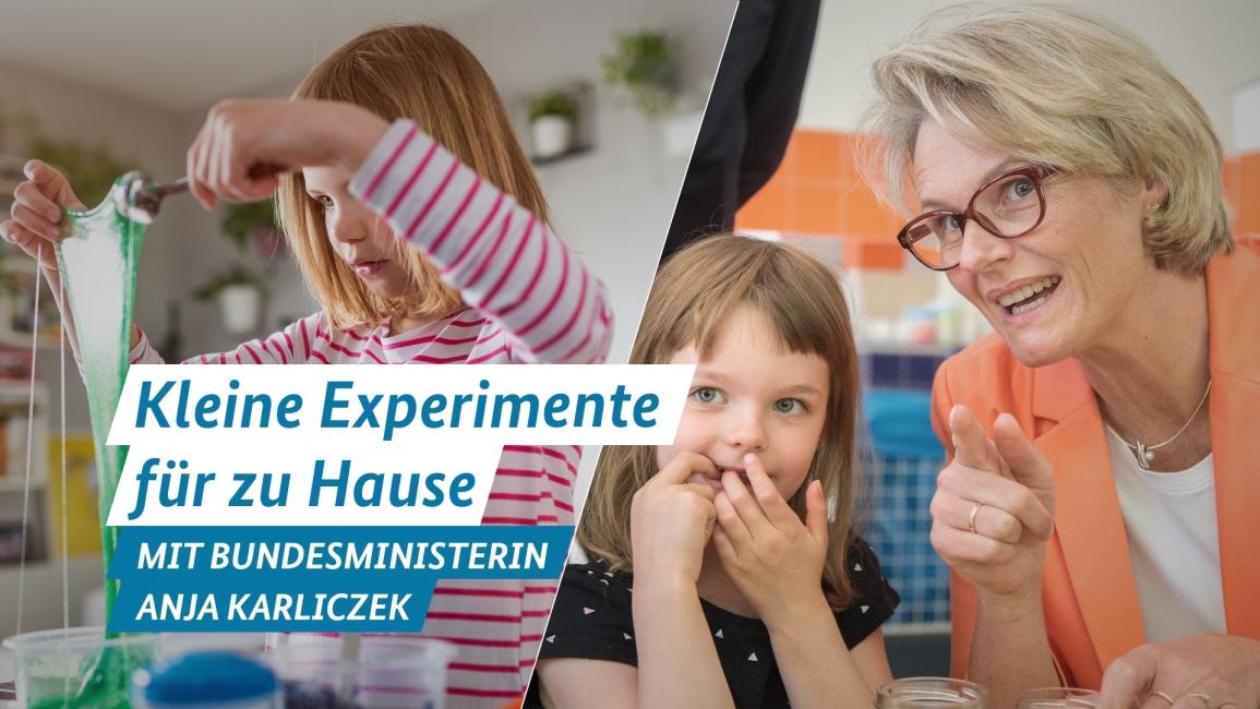 Poster zum Video Anja Karliczek stellt spannende Quellen zum Forschen und Entdecken zu Hause vor