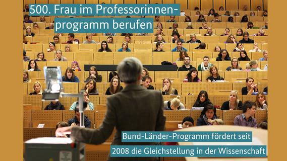 500. Frau im Professorinnenprogramm berufen