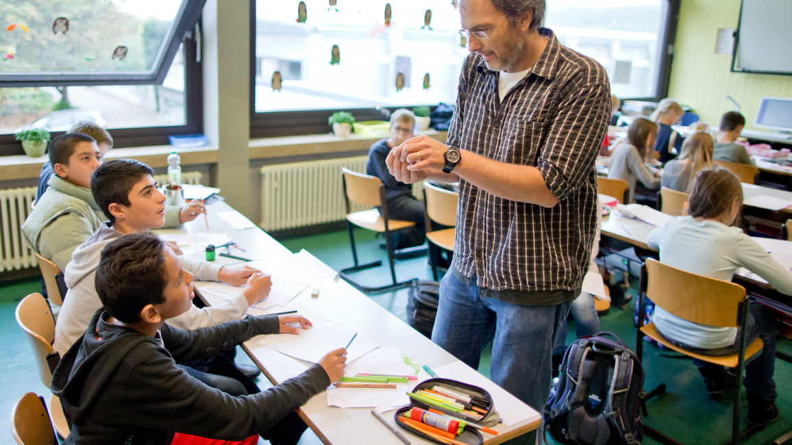Deutschunterricht für Flüchtlingskinder