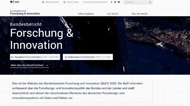 Startseite der neuen Homepage des BuFI.
