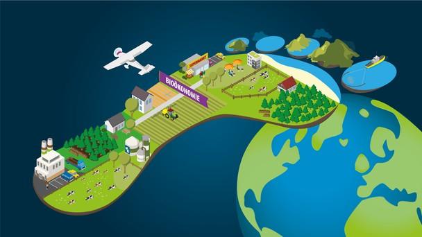 Biobasierte Ressourcen entstehen in der Land- und Forstwirtschaft, in der Fischerei, aber auch in biotechnologischen Laboren. Wie nachhaltig sie produziert, verarbeitet und konsumiert werden verraten die ökologischen Fußabdrücke der Bioökonomie.