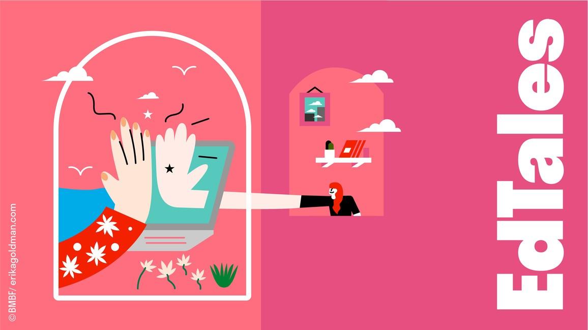 Die EdTales erzählen bildstark und interaktiv vier Geschichten aus der europäischen Hochschullandschaft.