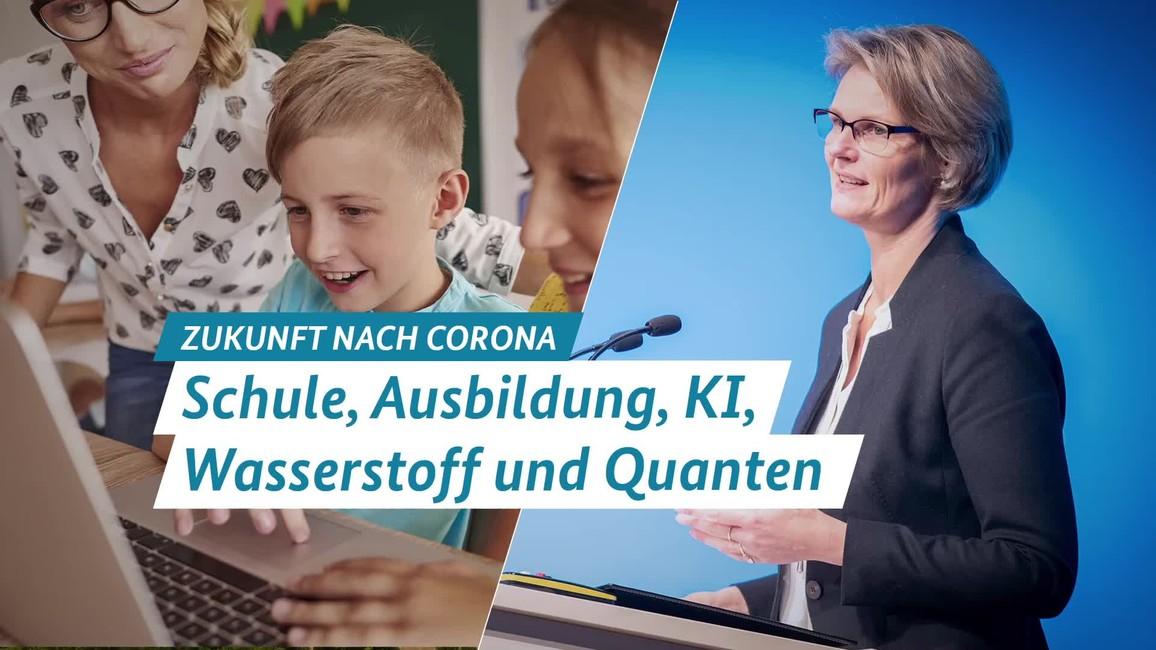 Poster zum Video Anja Karliczek zu den Zukunftsmaßnahmen der Bundesregierung