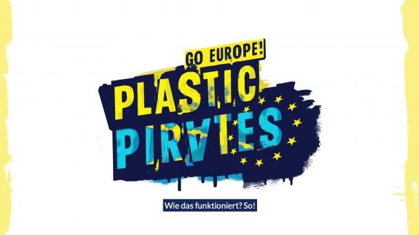 """Poster zum Video Kurzfilm zur Citizen Science-Aktion """"Plastic Pirates – Go Europe!"""
