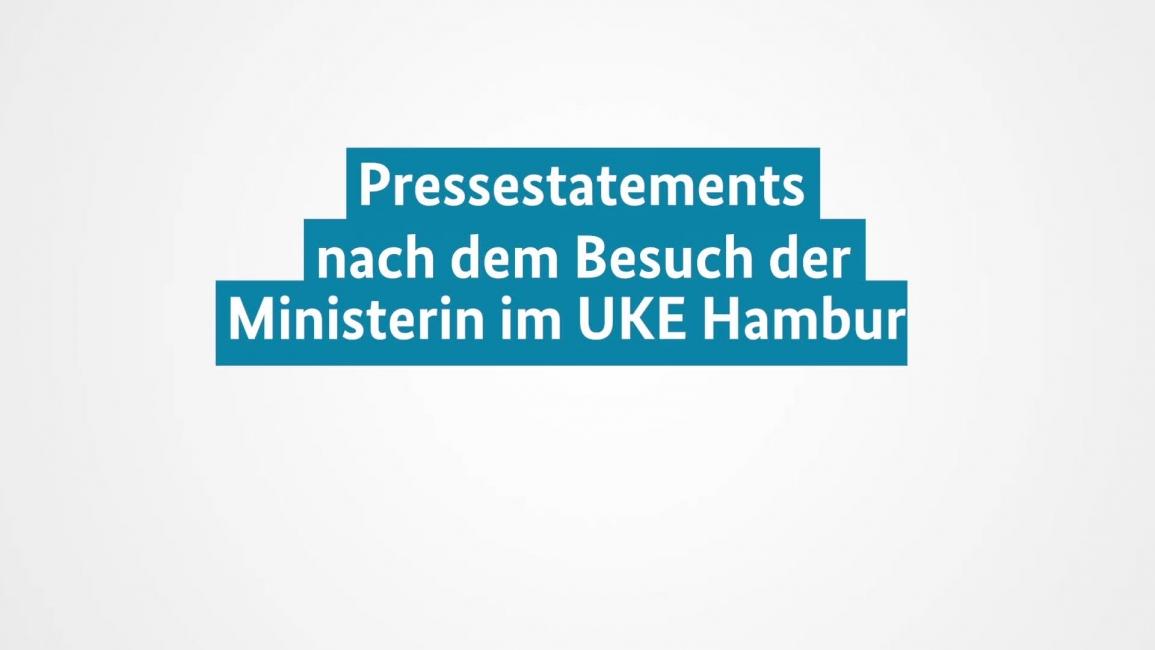 Poster zum Video Pressekonferenz: Besuch des UKE Hamburg