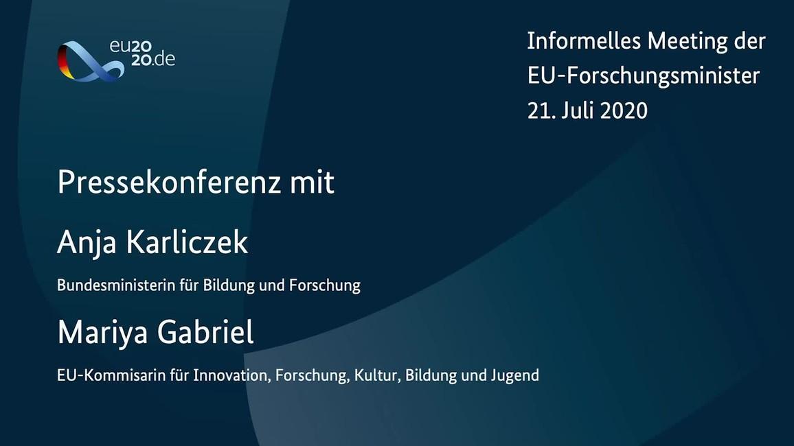 Poster zum Video PK nach dem informellen Meeting mit den EU-Forschungsministern