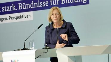 Johanna Wanka während ihrer Rede