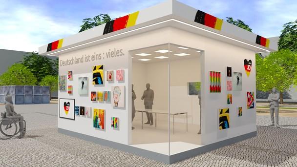"""Zum Tag der Deutschen Einheit in Potsdam erschafft die Kommission """"30 Jahre Friedliche Revolution und Deutsche Einheit"""" die Galerie der Einheit.it"""