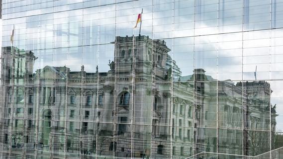 Blick auf den Deutschen Bundestag