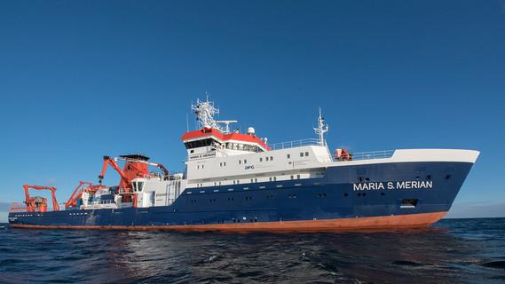Die 'Maria S. Merian' auf See