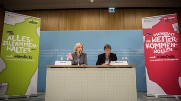 Bundesbildungsministerin Johanna Wanka stellt die neue Kampagne vor