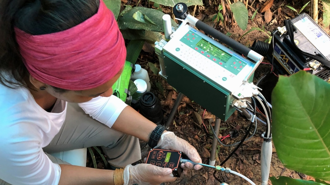 Mit dem Infrarot-Gasanalysator, kurz IRGA, wird der Gasaustausch gemessen, um die Photosynthese und Verdunstung von Pflanzen zu berechnen.