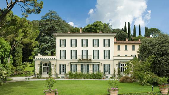 Blick auf die Villa Vigoni