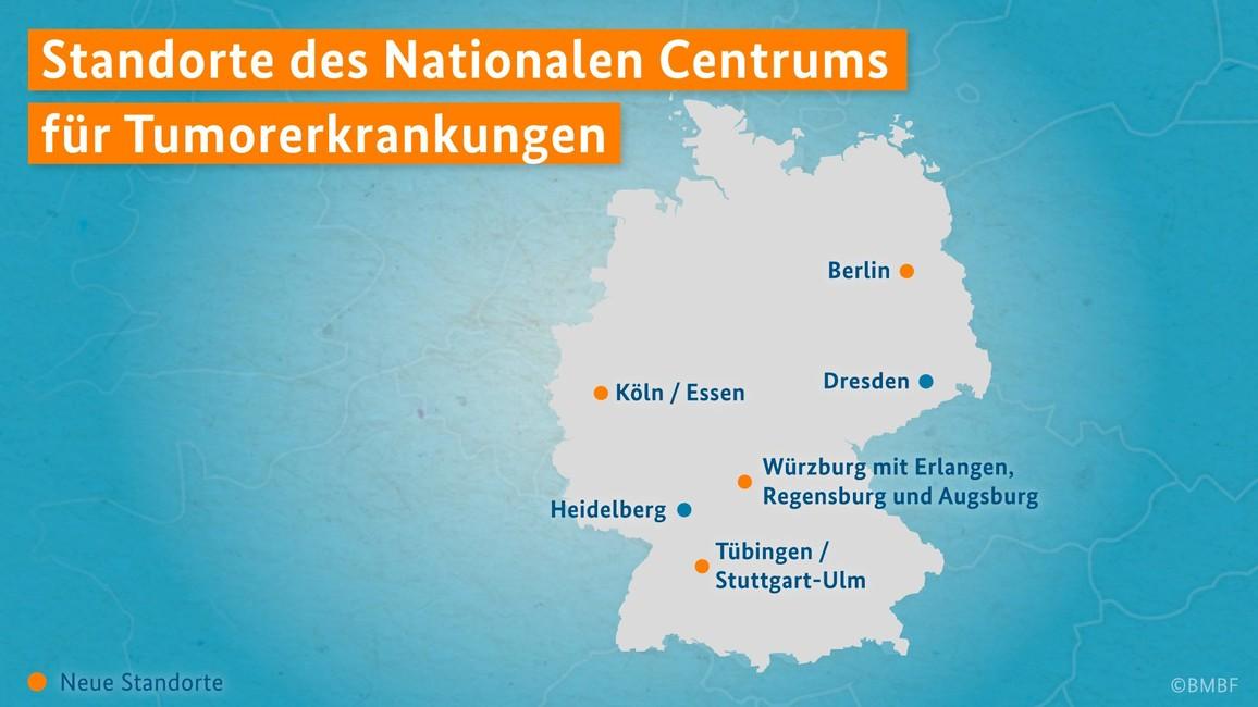 Standorte des Nationalen Centrums für Tumorerkrankungen