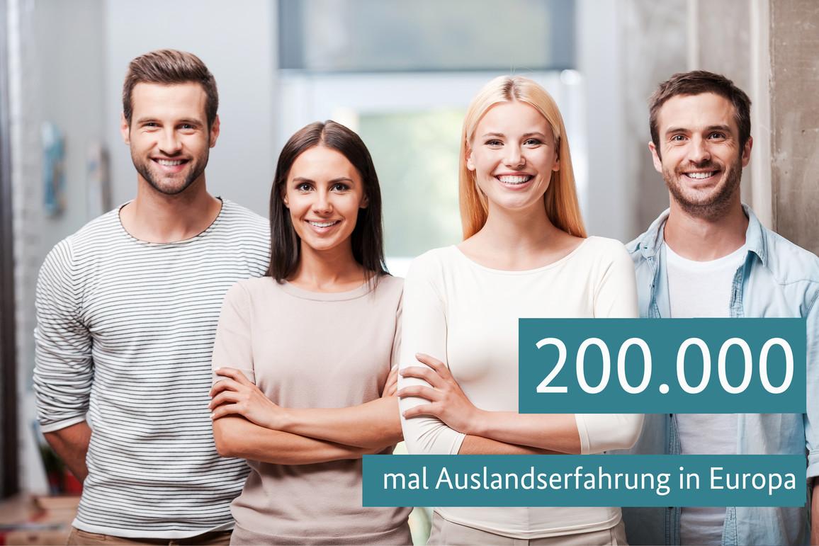 200.000 mal Auslandserfahrung in Europa