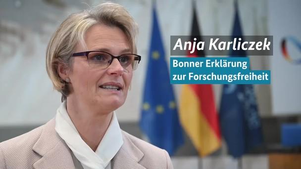 Poster zum Video EU-Forschungsministerkonferenz in Bonn Bonner Erklärung zur Forschungsfreiheit