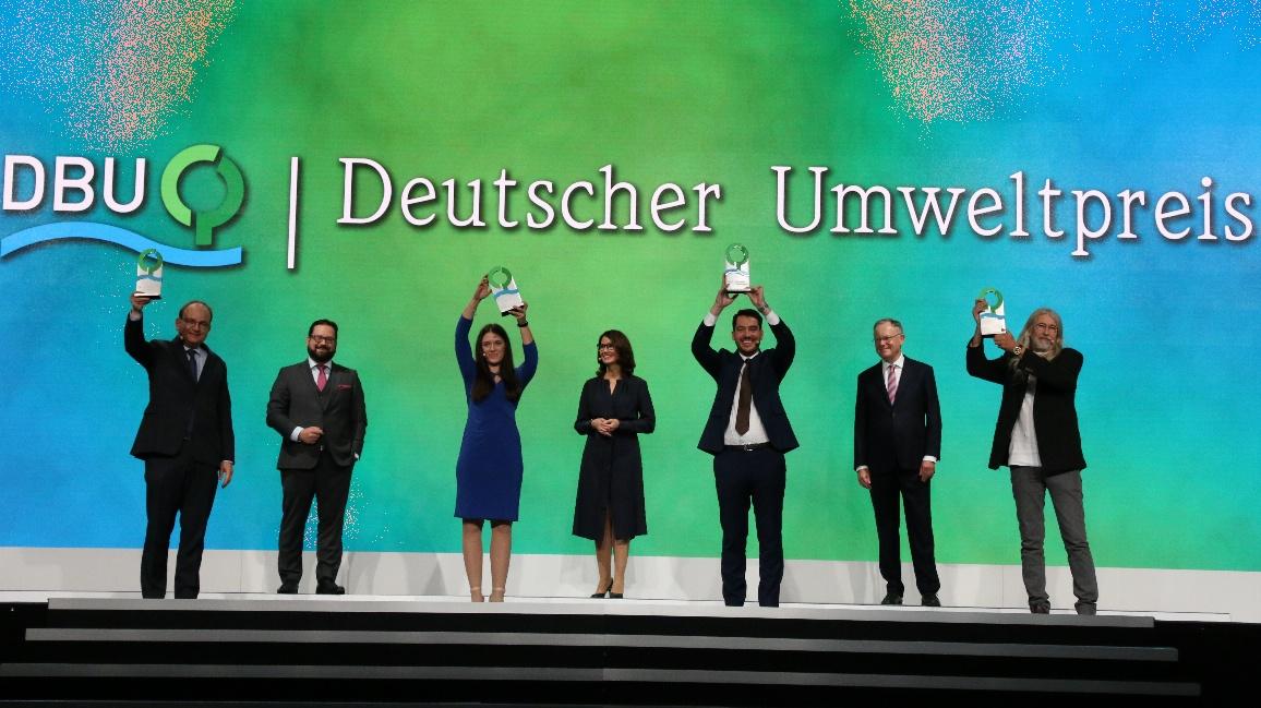 Die Preisträgerinnen und Preisträger des Deutschen Umweltpreises 2020.