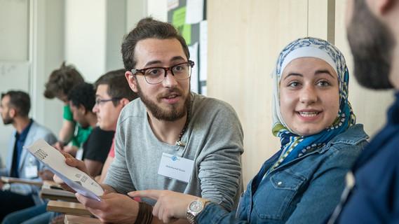 Abdulhamid Kouko und Raghad Koko aus Syrien