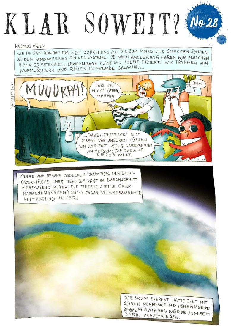 Klar soweit? Kosmos Meer - Helmholtz-Wissenschaftscomic Nr.28 - Seite 1