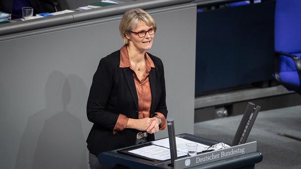 Bundesministerin Anja Karliczek im Rahmen der Haushaltsdebatte im Deutschen Bundestag.
