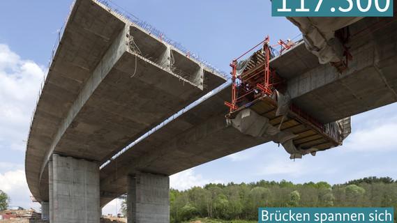 117.500 Brücken spannen sich über deutsche Straßen und Täler