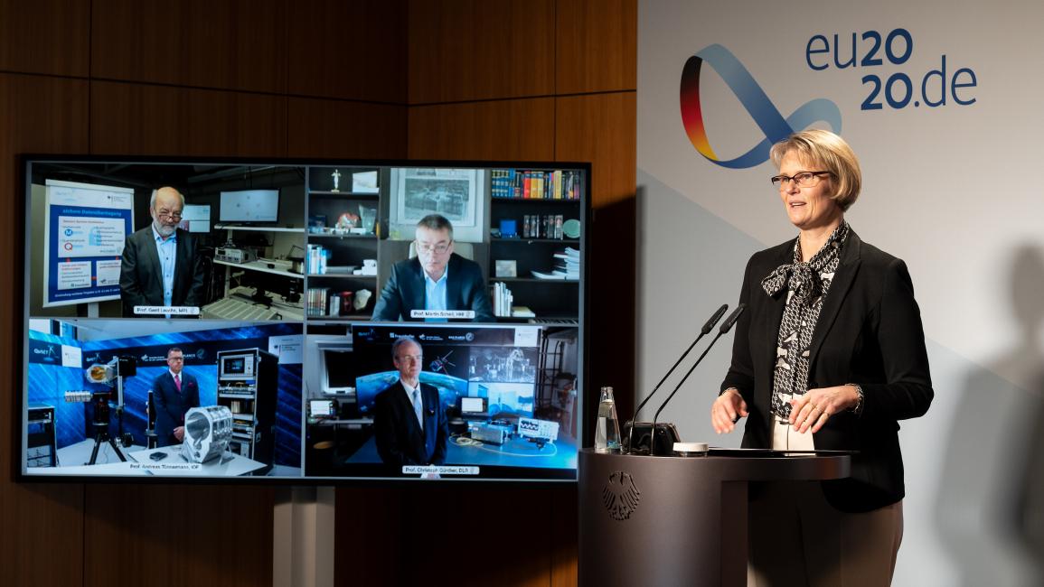 Poster zum Video Pk: Zwischenbilanz in der Forschung zur Quantenkommunikaton