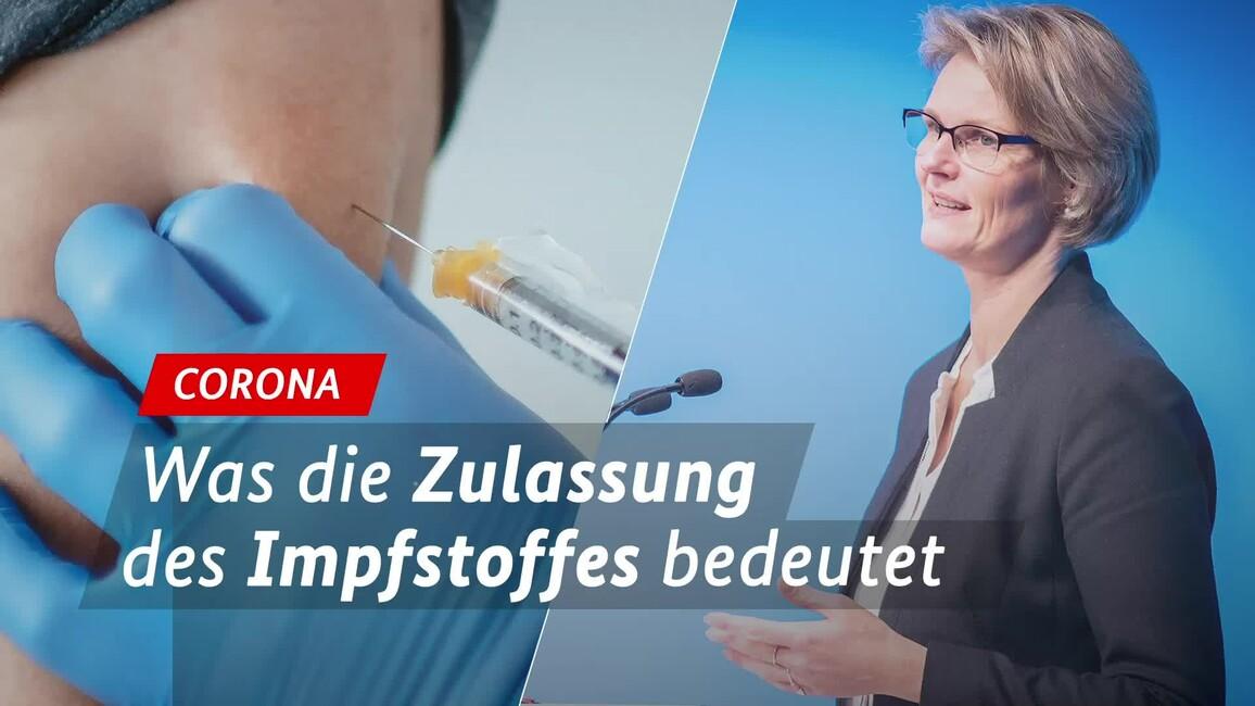 Poster zum Video BM Anja Karliczek zur Zulassung des BioNTech-Impfstoffes