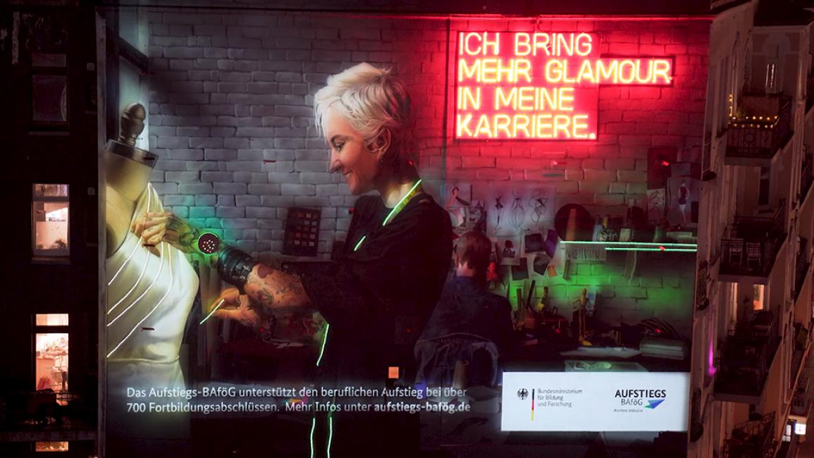 Poster zum Video Aufstiegs-BAföG als Fassadenkunst
