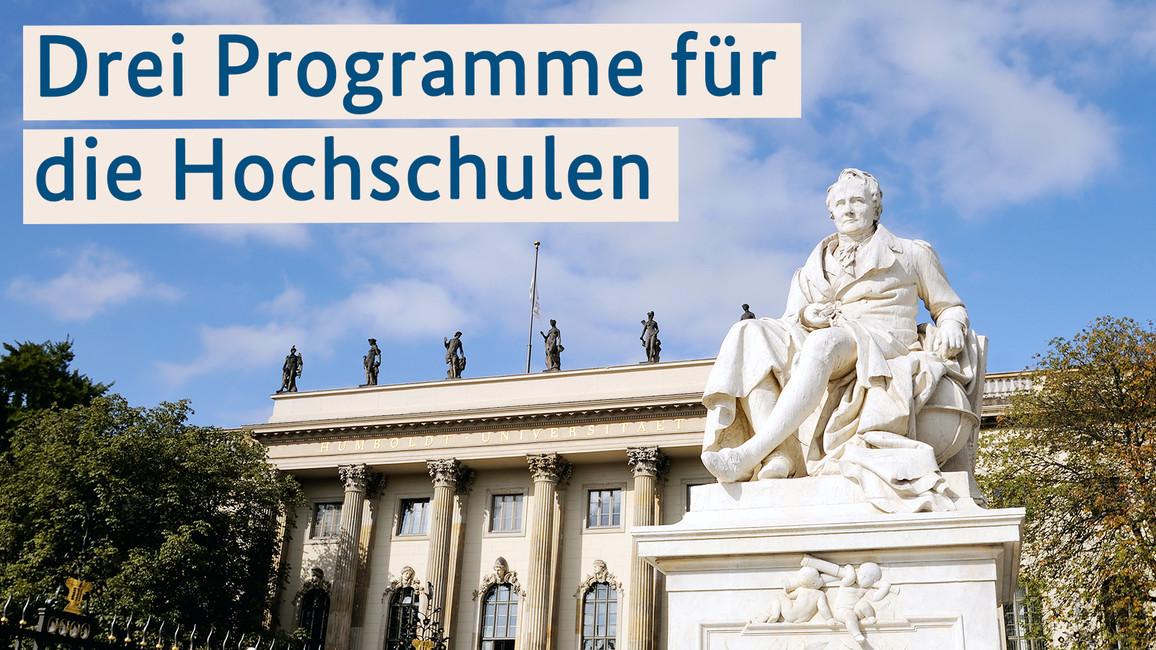 Drei Programme für die Hochschulen