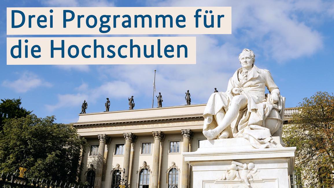Drei Programme für die Hochschulen: