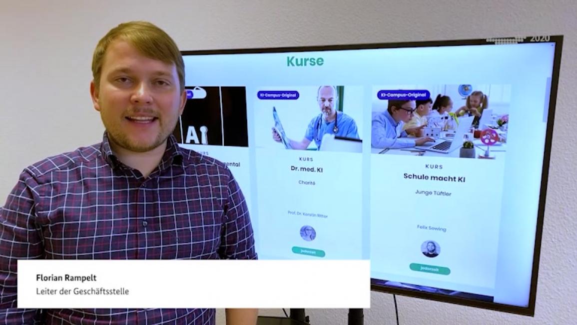 """Poster zum Video """"KI-Campus – Die Lernplattform für Künstliche Intelligenz"""""""