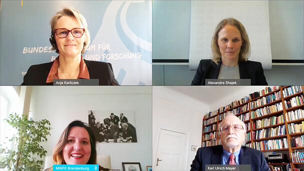 Im Rahmen einer digitalen Pressekonferenz haben heute Bundesministerin Anja Karliczek und die brandenburgische Forschungsministerin Manja Schüle für die Länderseite den Bundesbericht Wissenschaftlicher Nachwuchs 2021 (BuWiN) entgegengenommen.