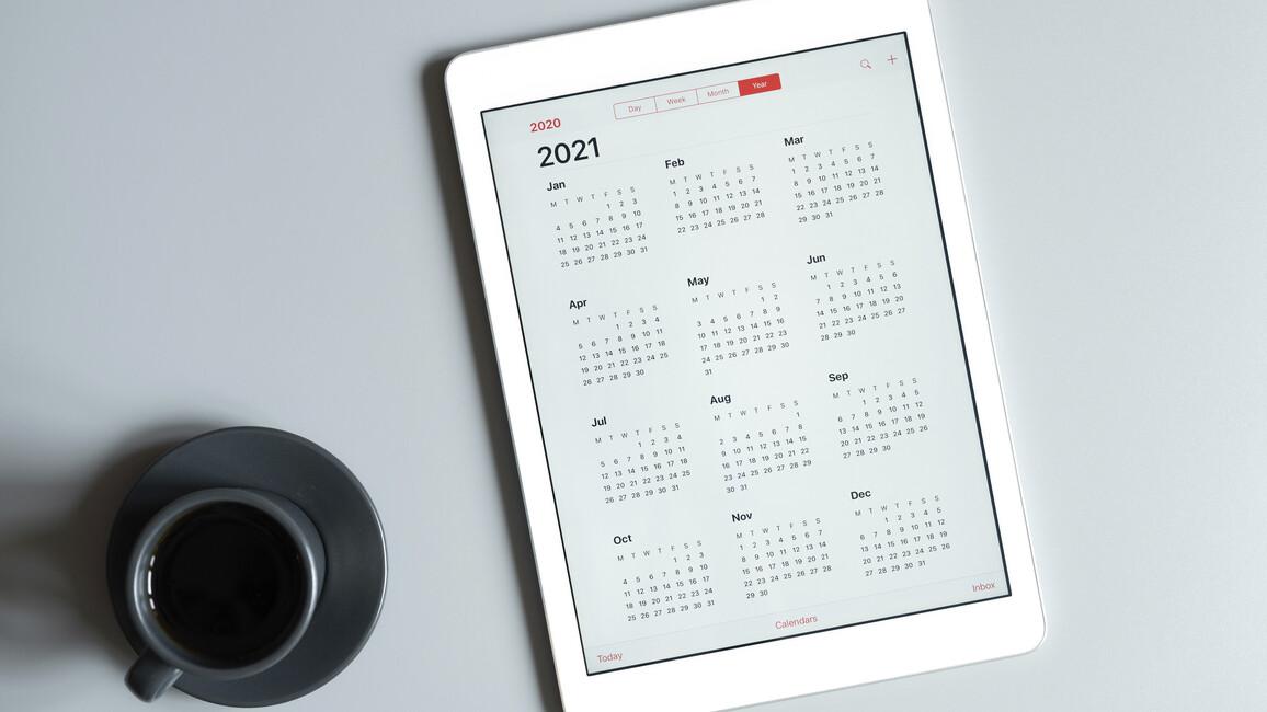 Tablet mit Kalender