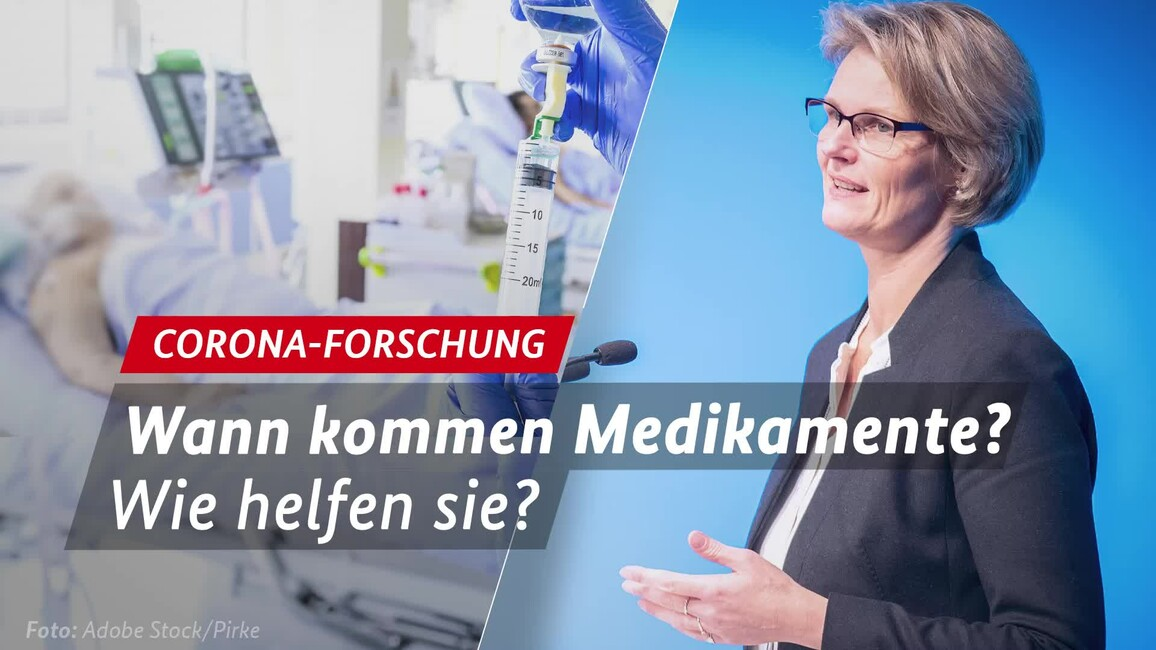 Poster zum Video Corona-Medikamente - Interview BM Anja Karliczek