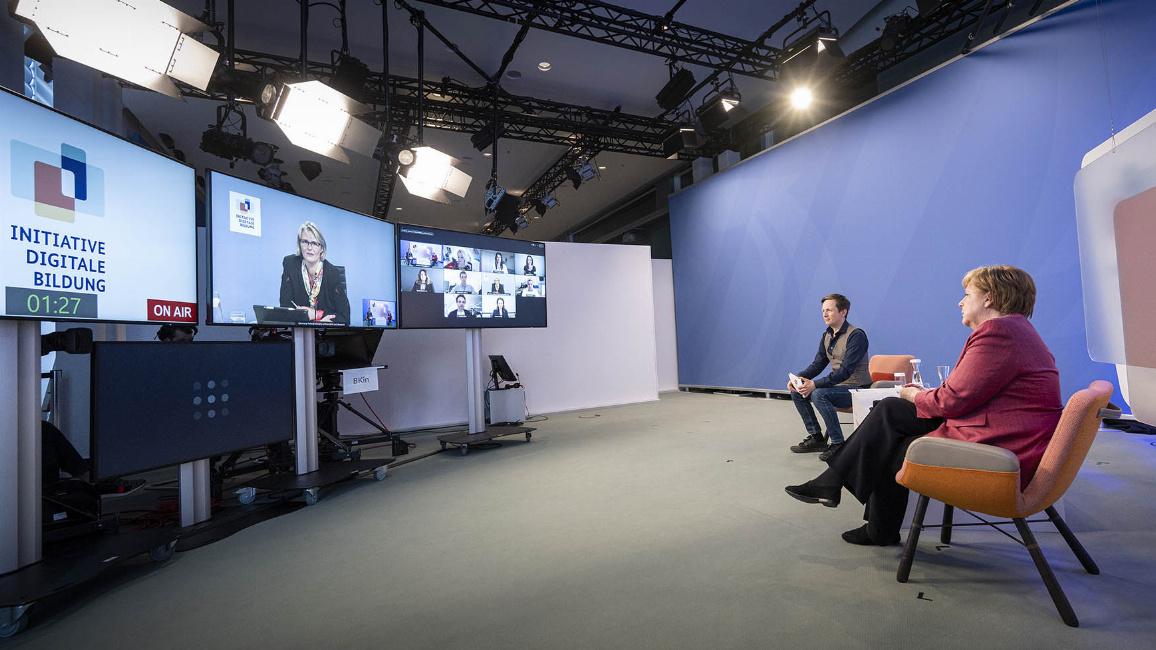 Online-Dialog über digitales Lernen