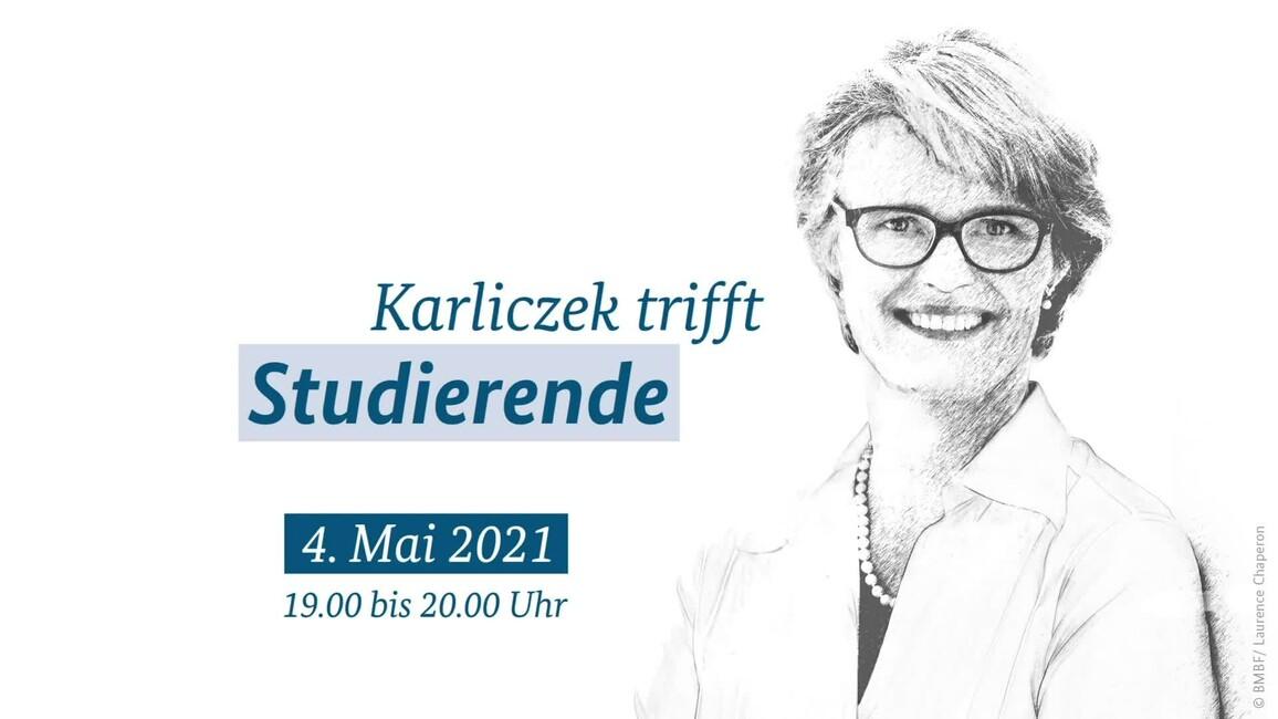 """Poster zum Video """"Karliczek trifft…Studierende"""""""