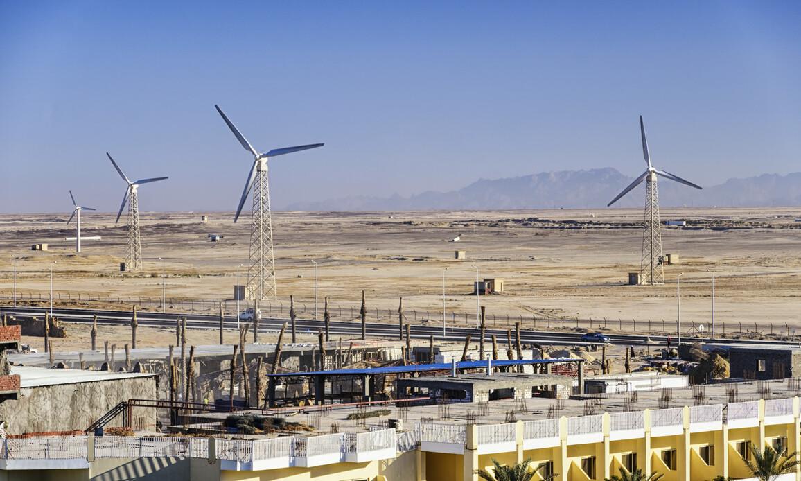 Windfarm zur Erzeugung nachhaltiger Energie