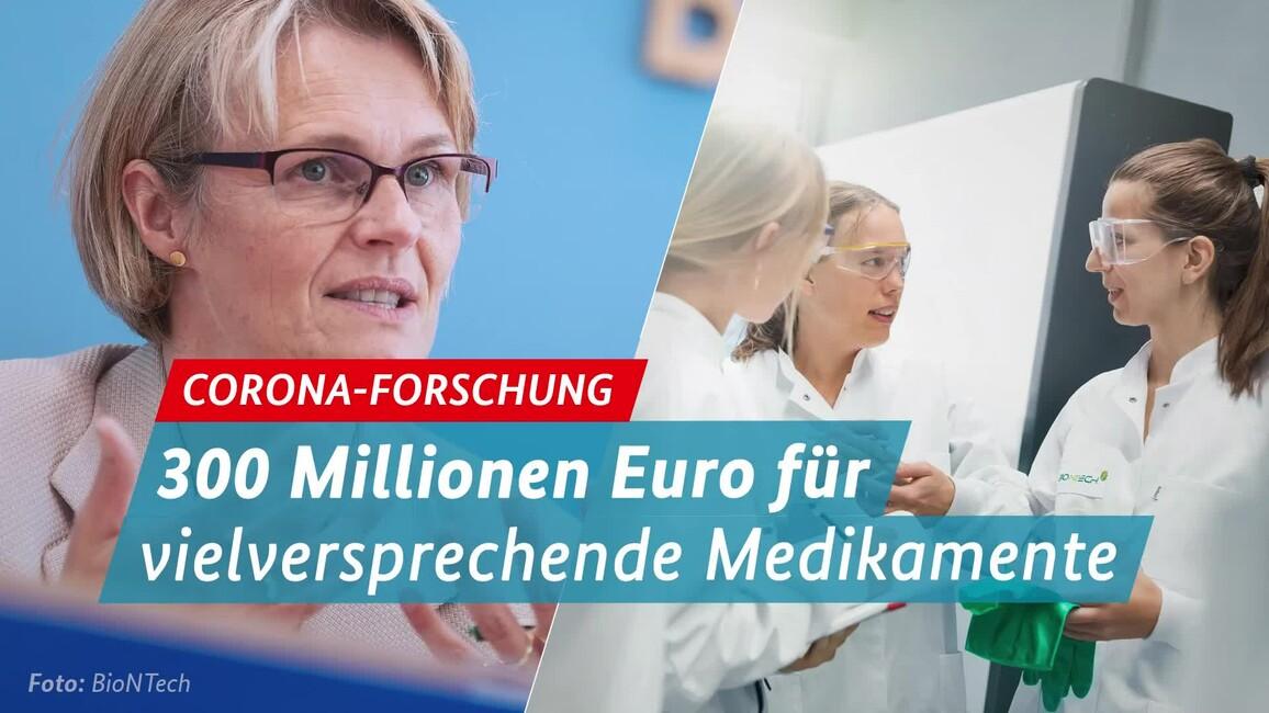 Poster zum Video Medikamentenforschung - neue Förderung (Pressekonferenz BM Anja Karliczek 12.05.21)