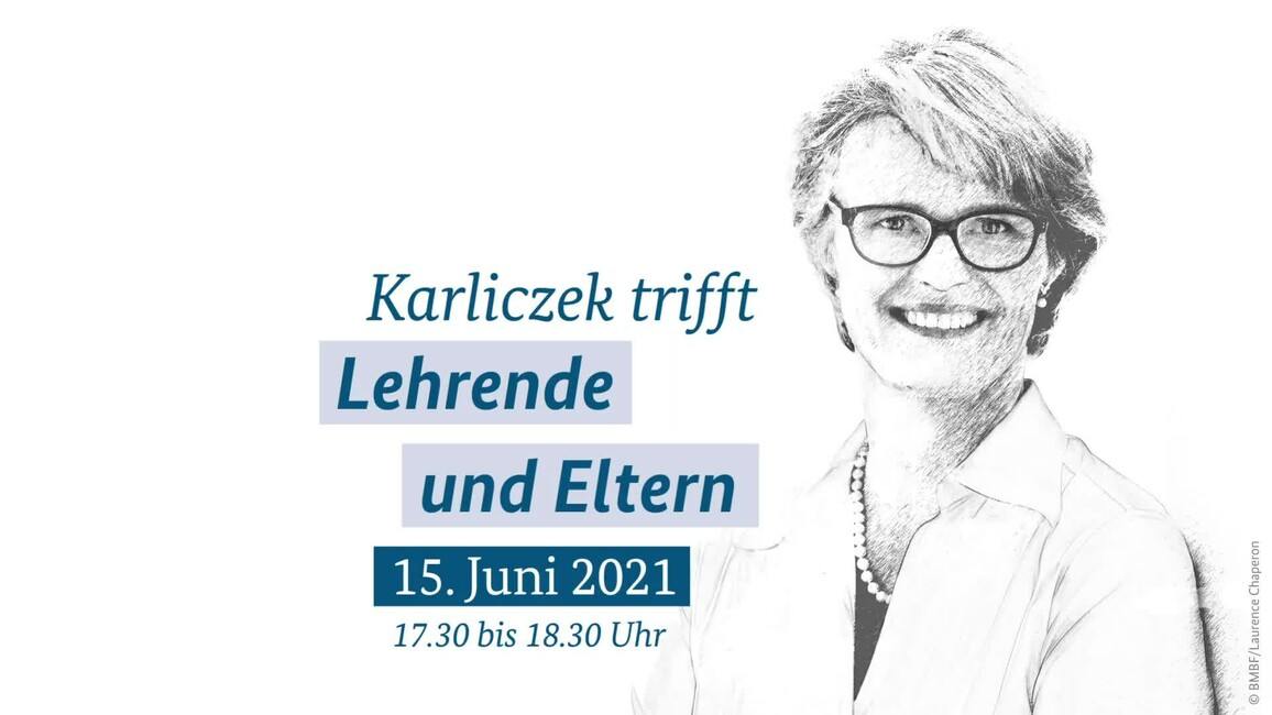 Poster zum Video Karliczek trifft... Lehrende und Eltern