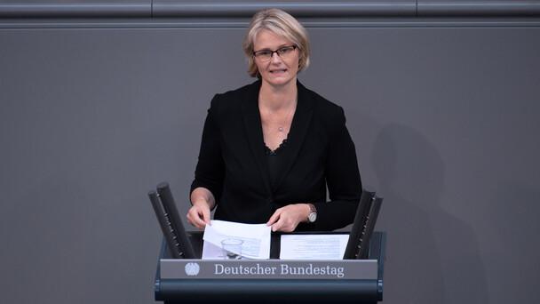 Bundesministerin Anja Karliczek in der Debatte zur Hightech-Strategie.