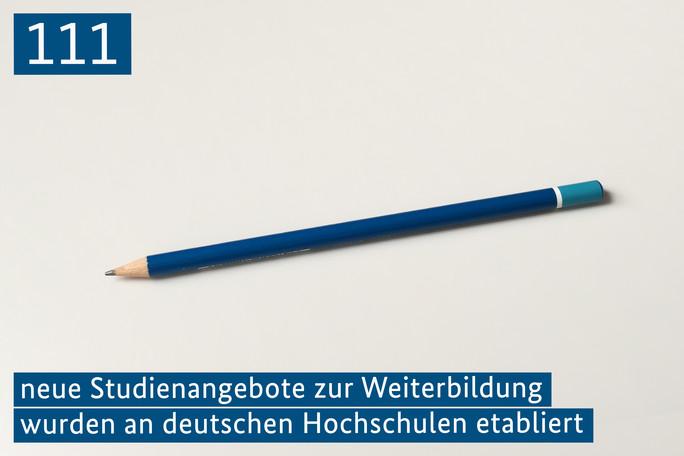 111 neue Studienangebote zur Weiterbildung wurden an deutschen Hochschulen etabliert