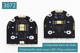 3072 Lichtpunkte kann ein Auto-Scheinwerfer dank neuer LED-Chips ansteuern