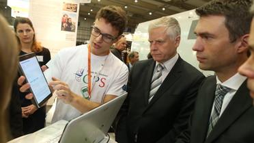 Der Parlamentarische Staatsekretär Stefan Müller mit dem polnischen Amtskollegen Aleksander Bobko, Staatssekretär im Ministerium für Wissenschaft und Hochschulbildung der Republik Polen.
