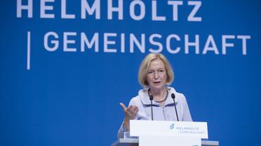 Bundesministerin Johanna Wanka spricht auf der Jahrestagung der Helmholtz-Gemeinschaft