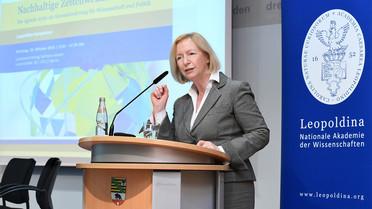 Bundesministerin Johanna Wanka während ihrer Rede