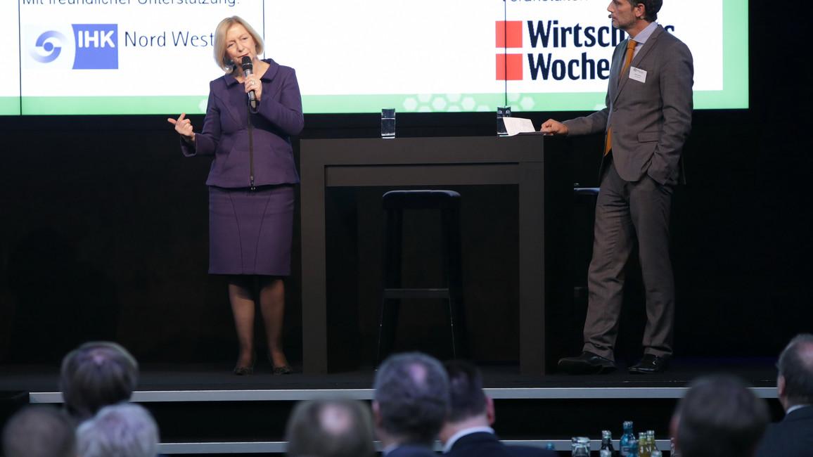 Bundesministerin Wanka auf dem Tag der Weltmarktführer im Münsterland/Westfalen in Ahaus