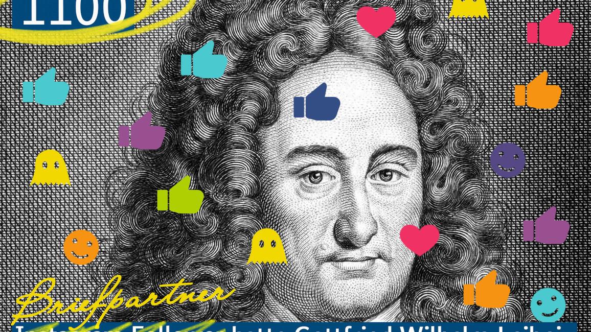 1100 Briefpartner hatte Gottfried Wilhelm Leibniz