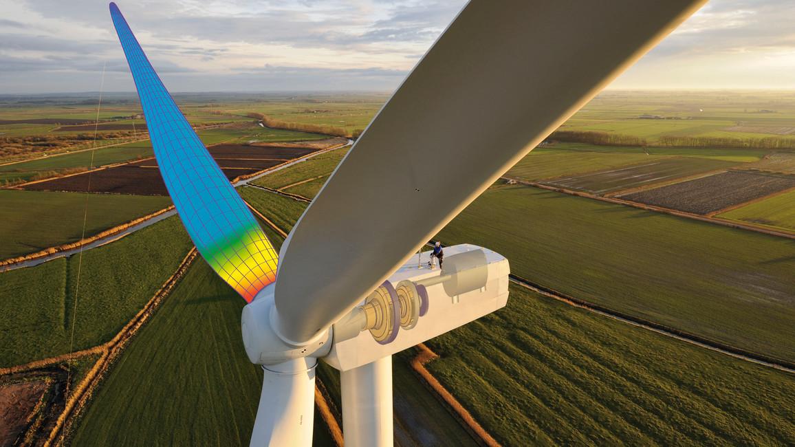 Methoden der angewandten Mathematik kommen in vielen Technologiebereichen zum Einsatz – zum Beispiel bei der Modellierung von Windenergieanlagen.